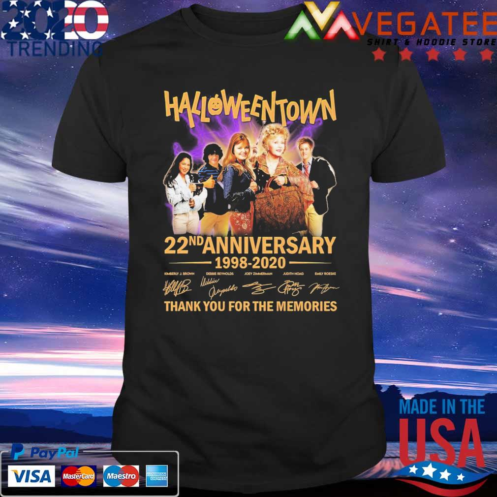 HalloweenTown 22nd anniversary 1998 2020 thank you for the memories signatures shirt