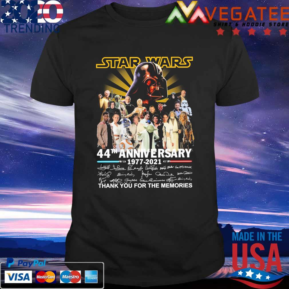 Official Star Wars 44th anniversary 1977 2021 thank you for the memories signatures shirt