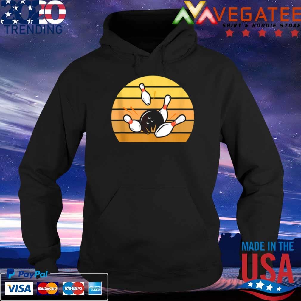 Official retro bowling sunset s Hoodie