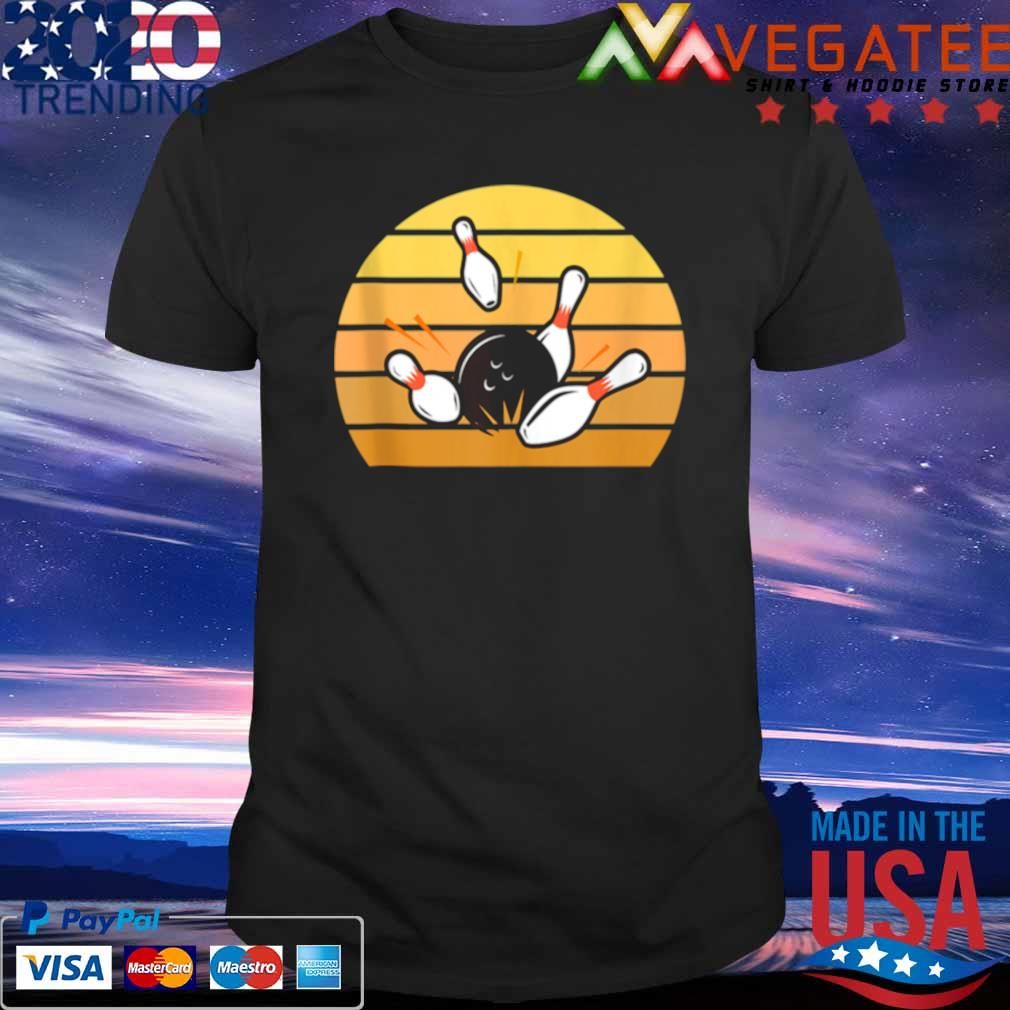 Official retro bowling sunset shirt
