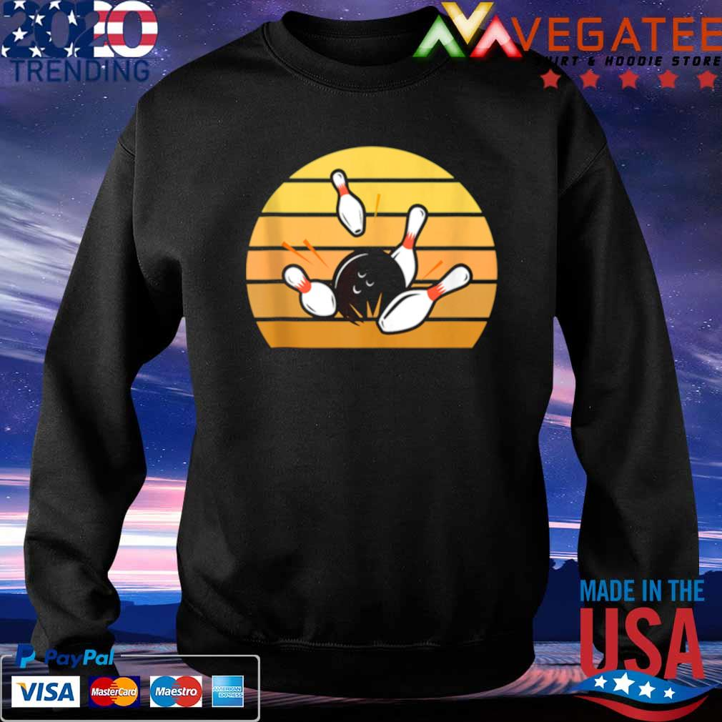 Official retro bowling sunset s Sweatshirt