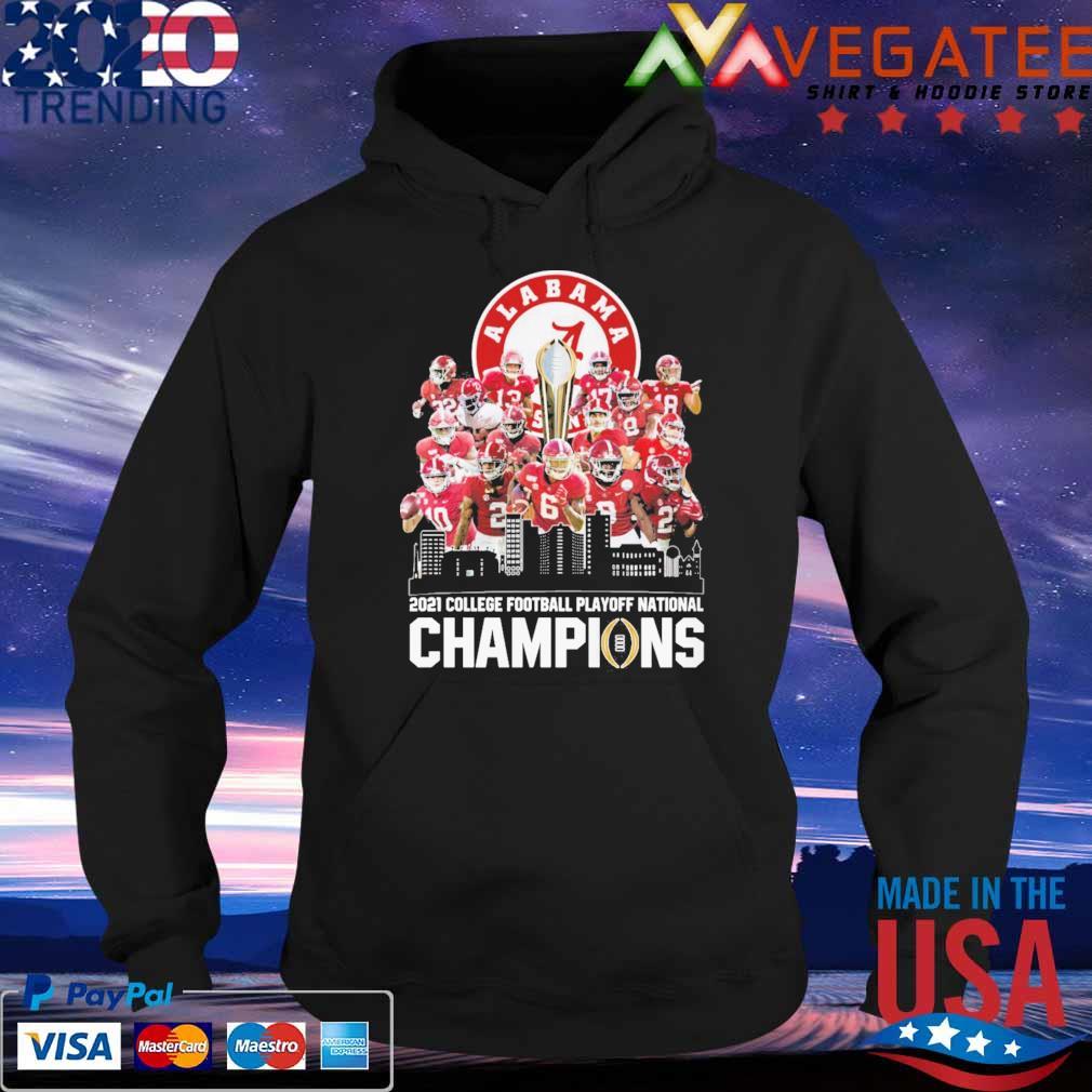 Alabama Crimson Tide 2021 College football playoff national Champions tee s Hoodie