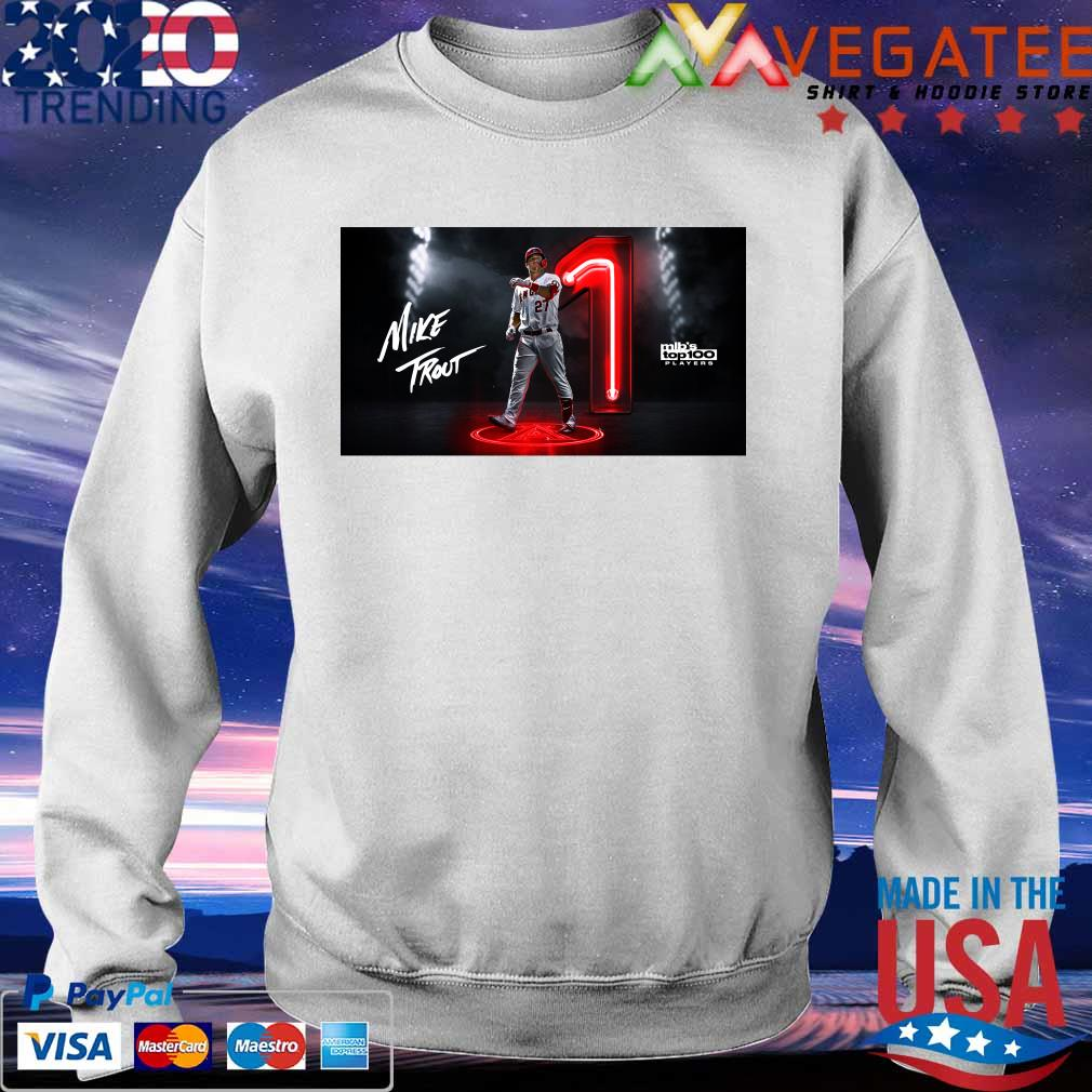 Mike Trout Mlb's top 100 Players s Sweatshirt