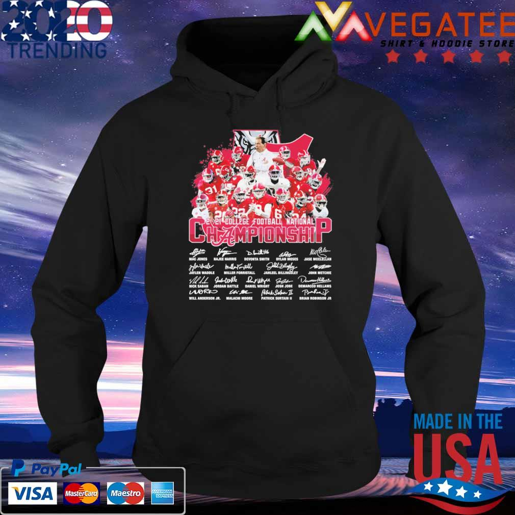 Official Alabama Crimson Tide 2021 College football national Championship signatures tee s Hoodie