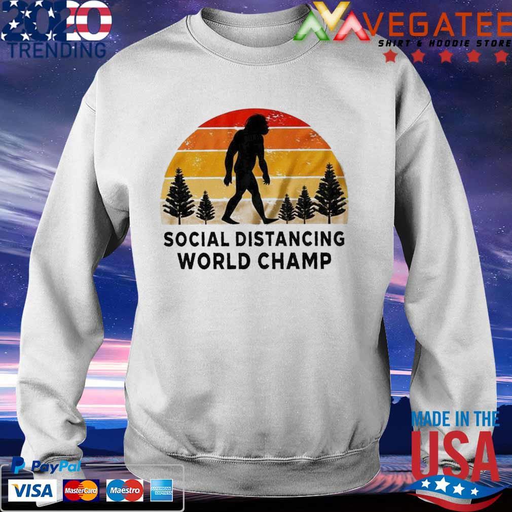 Official Bigfoot Social Distancing World Champ vintage s Sweatshirt