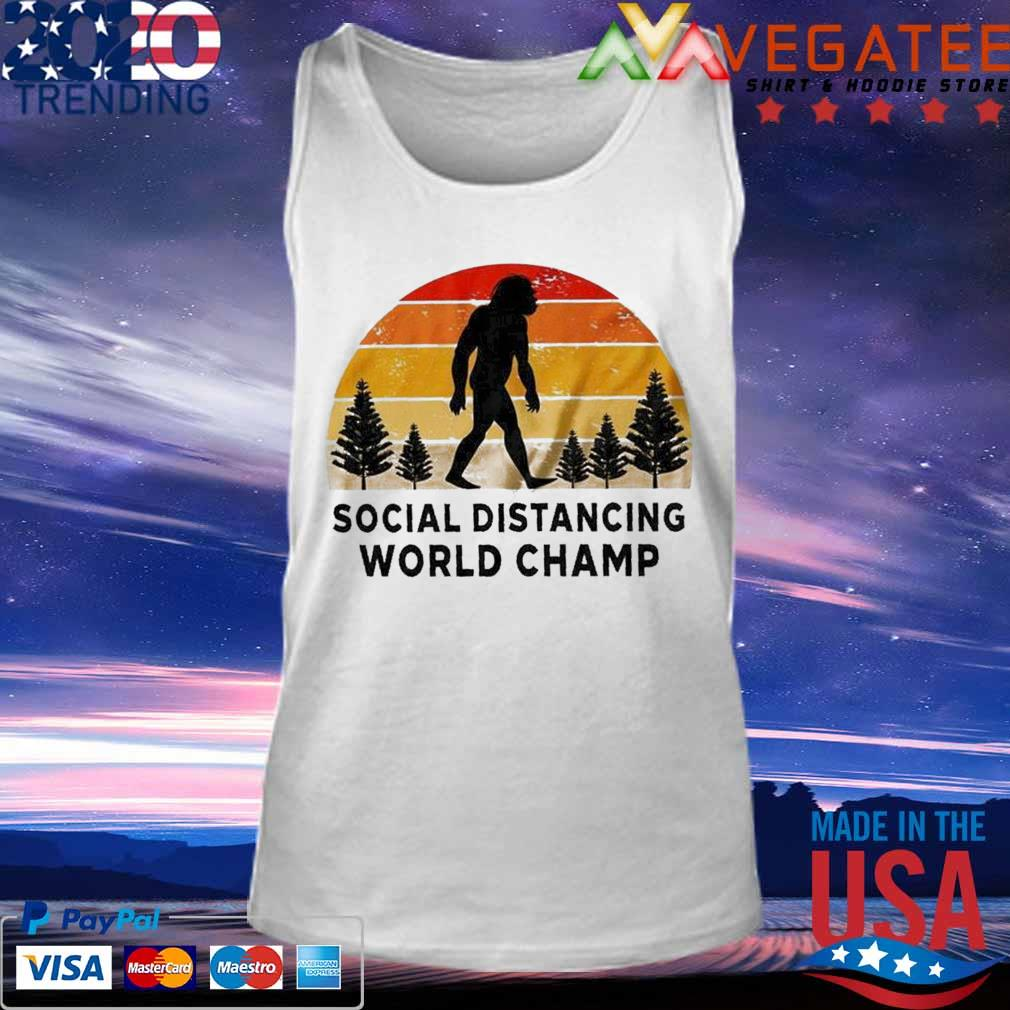 Official Bigfoot Social Distancing World Champ vintage s Tank top