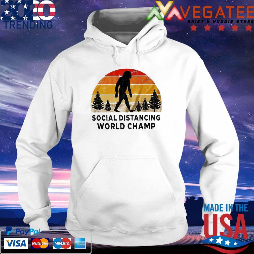 Official Bigfoot Social Distancing World Champ vintage s hoodie