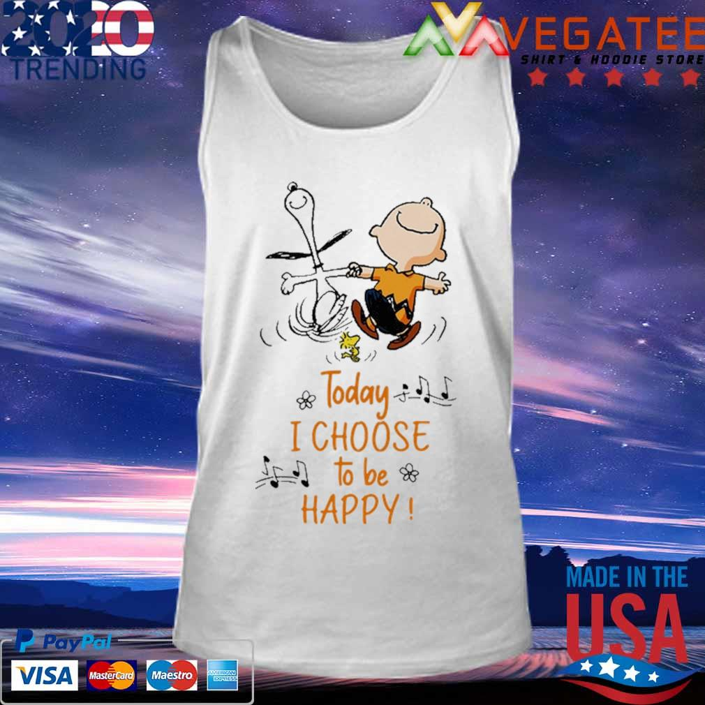 Official Charlie Brown and Snoopy Woodstock today I choose to be happy music s Tank top