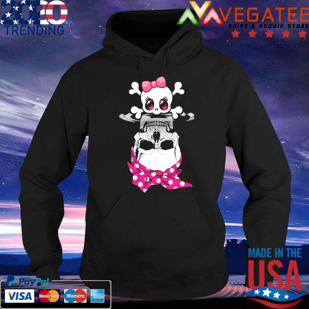 Official Lady Skull Bow Water Mirror Reflection Shirt Hoodie