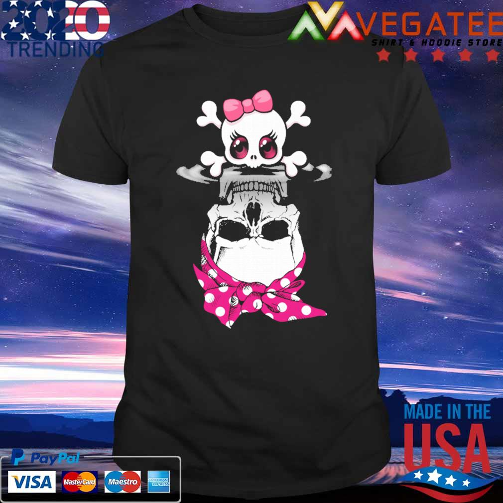 Official Lady Skull Bow Water Mirror Reflection Shirt