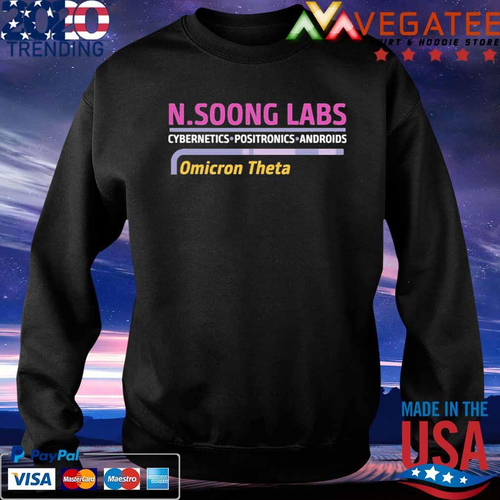 N.soong labs cybernetics positronics androids Omicron Theta shirt.png Sweatshirt