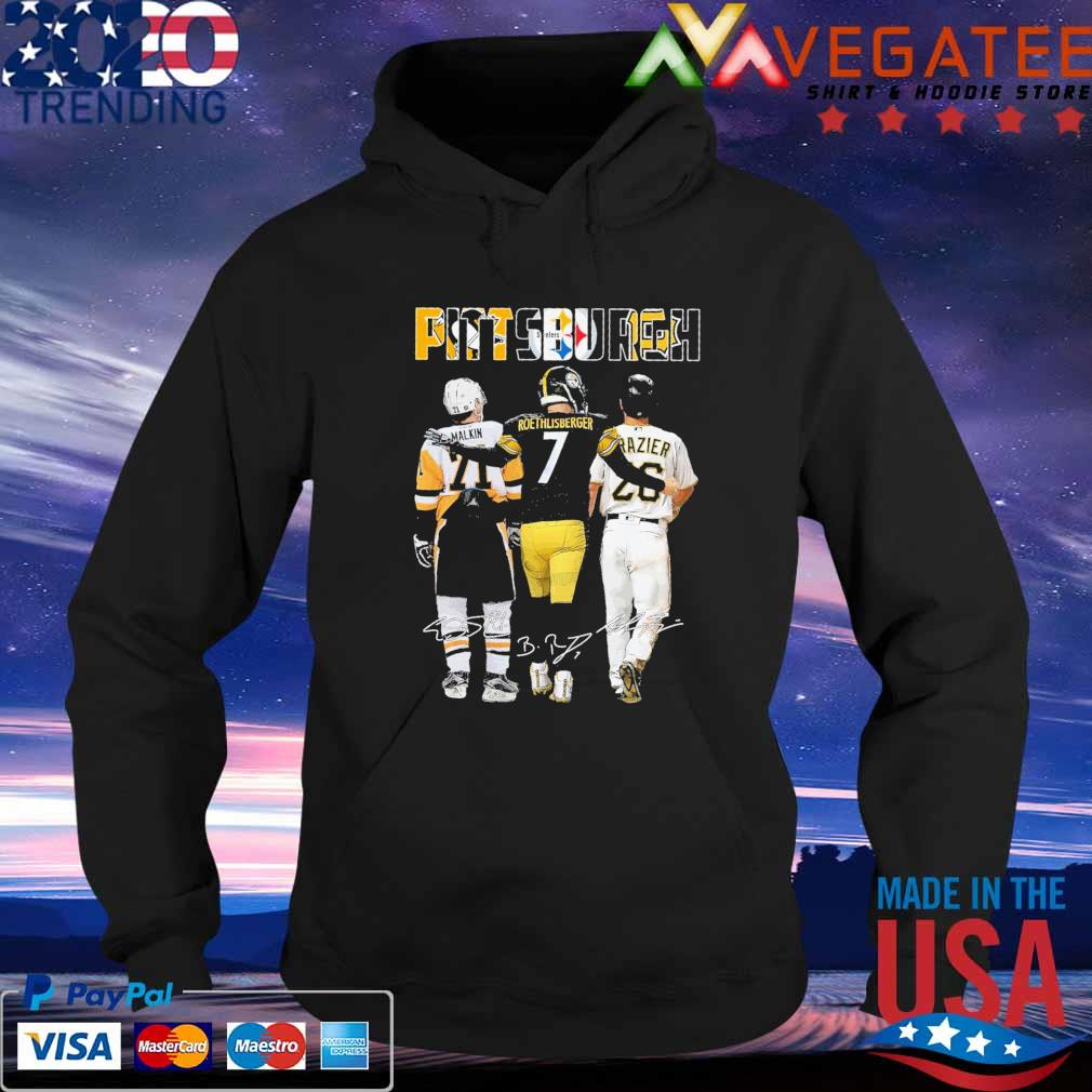 Official Pittsburgh Malkin and Roethlisberger Razier Mvp signatures s Hoodie