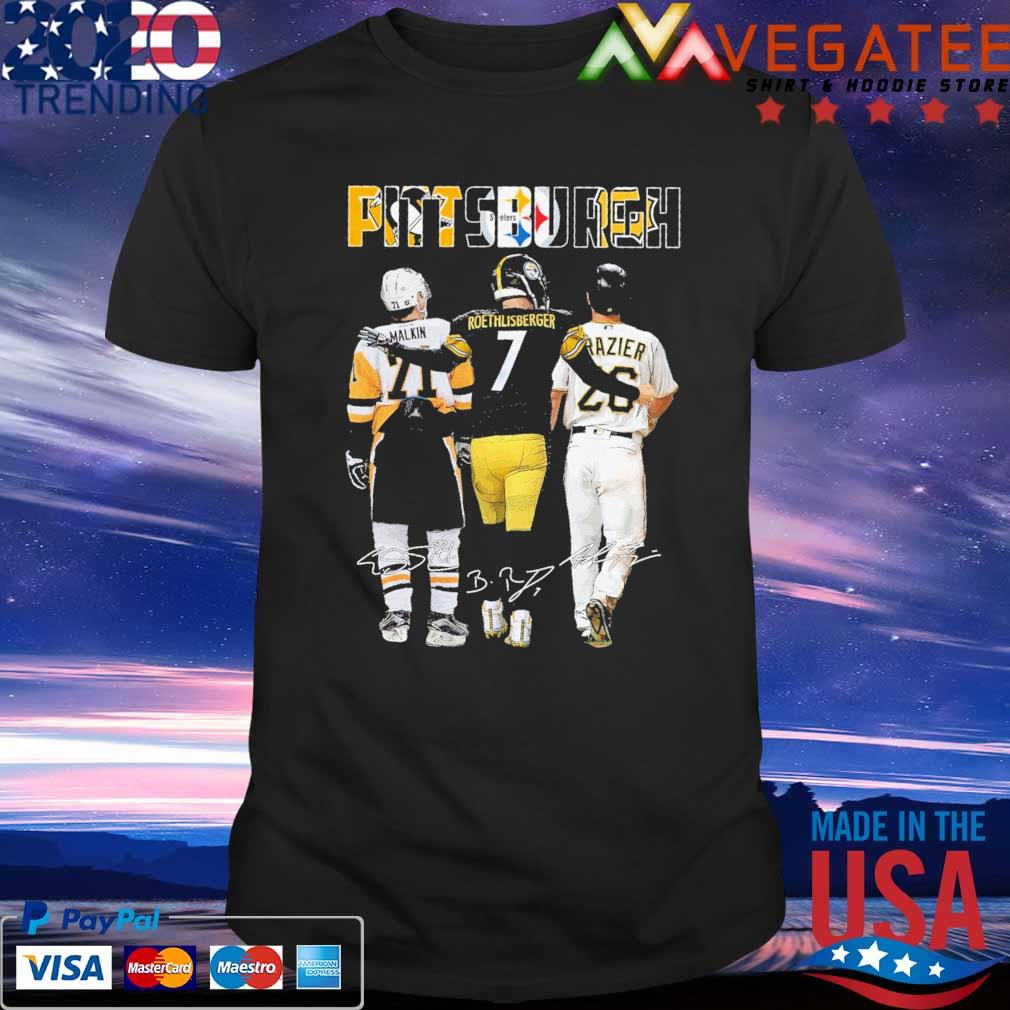 Official Pittsburgh Malkin and Roethlisberger Razier Mvp signatures shirt