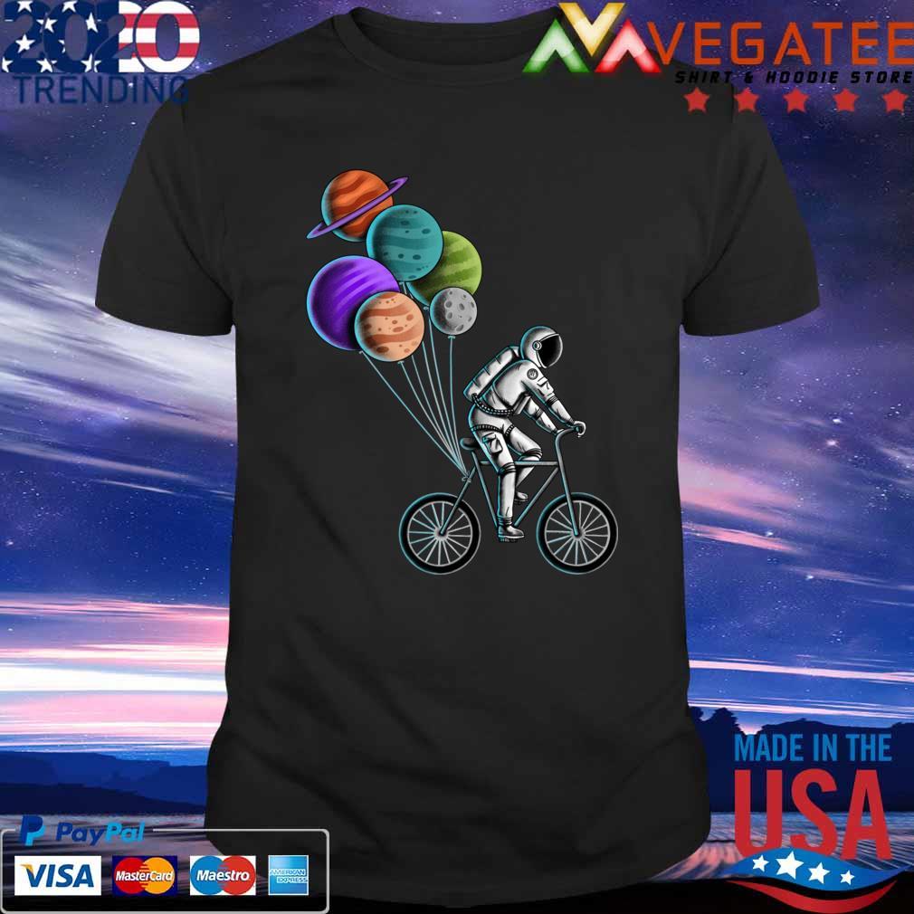 Astronaut Bicycle mens t shirt S-3XL