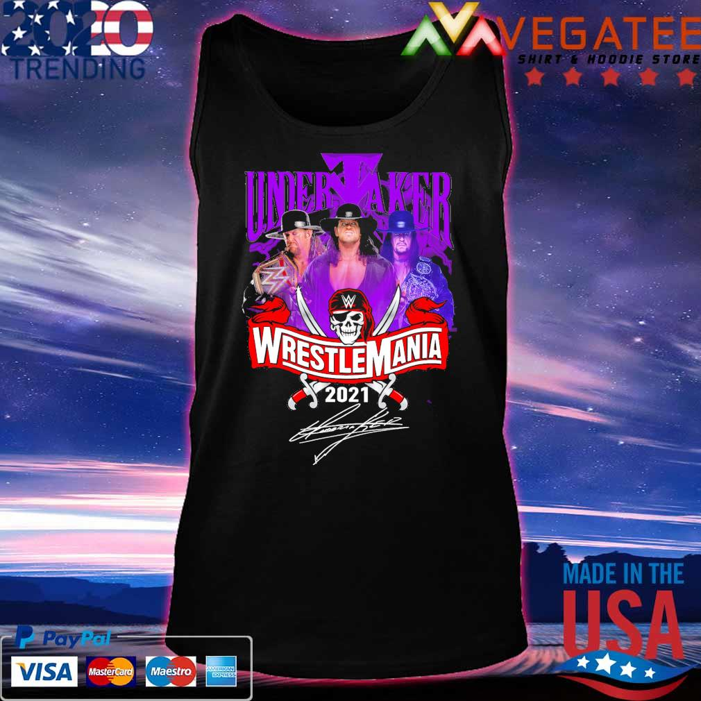 Undertaker Wrestlemania 2021 signature s Tanktop